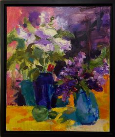 Lilacs... 16x20 Oil on Canvas E. Regan