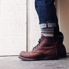 Winter socks and Red Wing Blacksmiths