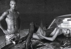 David and Victoria Beckham: American Idols - Photographed by Steven Klein; W Magazine August 2007