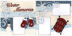 Out on A Limb Scrapbooking Premade Page Kit Winter Memories   eBay