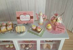 Its the Little Things: Miniature Bakery Counter Filled With Sweets...