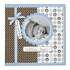 Shop Boy Paw Print Polka Dots 2 in. Photo Album 3 Ring Binder created by LullabyeDreams. Baby Shower Photos, Baby Shower Cards, Baby Cards, Kids Cards, Scrapbook Page Layouts, Scrapbook Albums, Scrapbooking Ideas, Simple Scrapbook Ideas, Scrapbook Templates