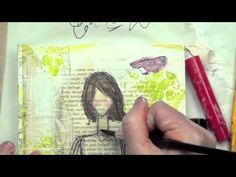 Great Video by Christy Tomlinson.....no words but lots of how-to get a she art canvas going....drawing the girl etc.