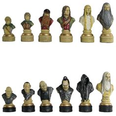 Lord of the Rings: Hand Decorated Chess Pieces