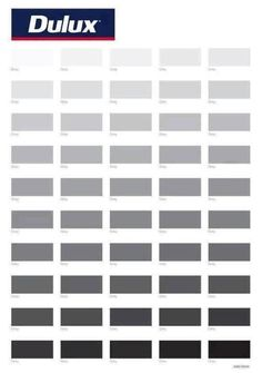 Fifty Shades of Grey from Dulux paints. LOL!