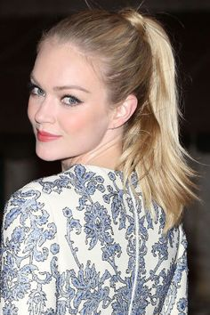 10 chic ponytail ideas to try now: Lindsay Ellingson's wrapped ponytail