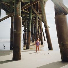 """""""Exploring the tide pools under the pier. #morningswith_keira"""" Photo taken by @kinzieriehm on Instagram, pinned via the InstaPin iOS App! http://www.instapinapp.com (08/14/2015)"""