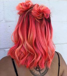 Image about girl in 🌸Colorful Hair 🍭👑🌈 by 🦋 on We Heart It pink hair inspo Cute Hair Colors, Pretty Hair Color, Hair Dye Colors, Bright Hair Colors, Hair Inspo, Hair Inspiration, Aesthetic Hair, Coloured Hair, Colored Girls