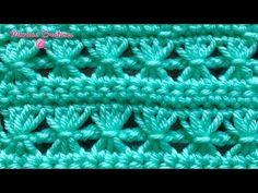 CROCHET: Puntada Reloj de Arena (Hourglass Stitch) - YouTube