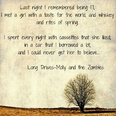Long Drives lyrics by Molly and The Zombies. Brian Fallon, The Gaslight Anthem