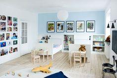 mur de photos pour chambre enfant