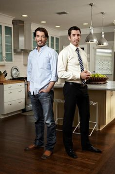 Property Brothers on HGTV. Can you please come renovate my house one day?! I mean right now all I have is a suitcase, but one day! ;)