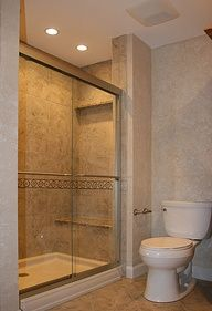 Small bathroom is a big task for every home owner. Choosing the correct bathroom tile designs for small bathroom is other way to create a larger space. Small Basement Bathroom, Small Bathroom Renovations, Small Bathroom With Shower, Bathroom Tile Designs, Bathroom Design Small, Modern Bathroom, Bathroom Ideas, Bathroom Remodeling, Master Bathroom