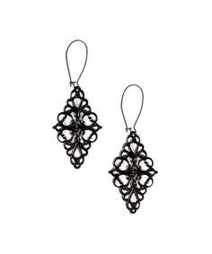 Look what I found on #zulily! Black Charm Drop Earrings #zulilyfinds
