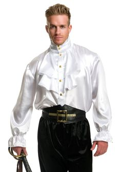 Male silk pirate shirt fetish images