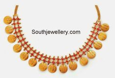 South Jewellery: # Kasu Necklace with Ram Sita and Lakshman