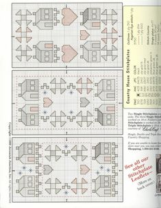 Schema punto croce Little Patchwork House 02