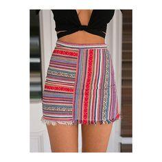 Stripe Print High Waist Bodycon Mini Skirt (97 RON) ❤ liked on Polyvore featuring skirts, mini skirts, red, short red skirt, red high waisted skirt, bohemian skirts, bodycon mini skirt and red mini skirt