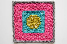 Flower Granny Square, free pattern by Silja Devine