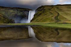 Skogafoss Reflections - Skogafoss Waterfall Reflections. Photography by Fearghal Breathnach