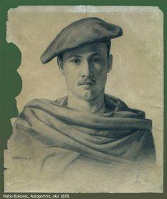 Self Portrait, c. 1878 by Vlaho Bukovac (Croatian 1855 - 1922)