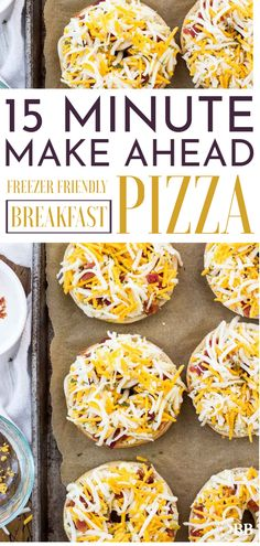 This an easy freezer breakfast if you're looking for make ahead ideas for breakfast. These breakfast pizza bagel meals are frozen for an on the go easy breakfast best for kids or cheese loving grown ups. Frozen Breakfast, Breakfast Bagel, Breakfast On The Go, Make Ahead Breakfast, Breakfast Dishes, Breakfast Recipes, Easy Kid Breakfast Ideas, Breakfast Kids, Mexican Breakfast