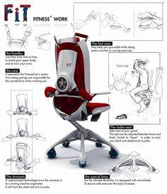 座りながらカラダを鍛えることが出来るオフィスチェア!【Fit@work】