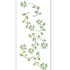 Estencil-para-Pintura-Simples-7x15-Flores-Margarida-OPA1963---Opa