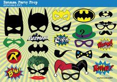 Batman Themed Party Photo Booth Prop, Superhero Photo Prop, Instant Download Print- Superhero, Bat Girl, Robin, Joker, Riddler, Harley Quinn