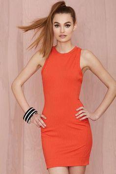 Nasty Gal Brickell Ribbed Dress #dress #women #covetme #nastygal