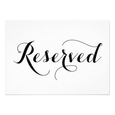 Free Printable Reserved Seating Signs For Your Wedding Ceremony