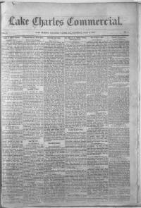 CALCASIEU PARISH, Louisiana - Lake Charles - 1881-1898 -  Lake Charles Commercial.  « Chronicling America « Library of Congress