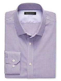 Tailored Slim-Fit Non-Iron Tattersall Shirt