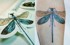 Ao usar plantas e flores como estêncil, Rit Kit cria tatuagens botânicas…