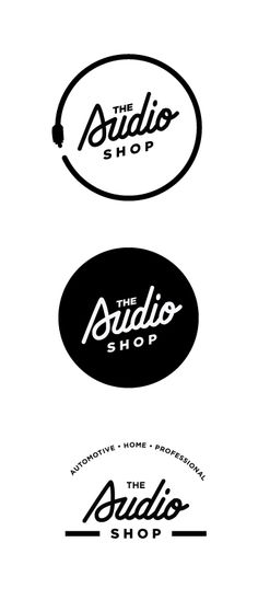 Custom type design | #logo #branding #design for the Audio Shop                                                                                                                                                      More