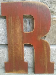 Custom distressed wood letters for home decor - 13.5 in wood letters