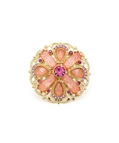 A Royal Statement Ring - Gold and Pink from Glint & Gleam via Shop Lately