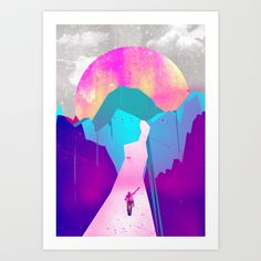 journey to the unknown Art Print by vathenshood - $18.00