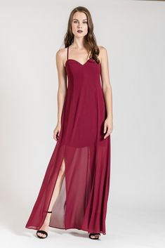 This occasion x back maxi dress is the perfect choice for special events in autumn and winter. Discover more occasion dresses at be you. Side Split, Occasion Dresses, Skinny Fit, Dress To Impress, Special Events, Favorite Color, Women, Fashion, Casual Gowns