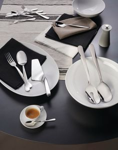 Alessi worked with Ben van Berkel of UNStudio to launch a new, sculptural set of cutlery named Giro that features sleek edges and faceted shadows.