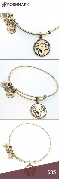 Alex and Ani The Elephant charm Charity by Design elephant gold color charm bangle Alex & Ani Jewelry Bracelets