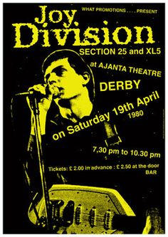 JOY DIVISION   19 April 1980 Derby Ajanta Theatre   door tarlotoys,