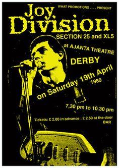 JOY DIVISION 19 April 1980 Derby Ajanta Theatre door tarlotoys,