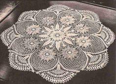 #377 Centro de Mesa de tres colores a Crochet