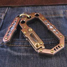 edc carabiner Everyday Carry Gear, Edc Gear, Blue Moon, Ancient Art, Keychains, Gadgets, Pocket, Appliances, Old Art