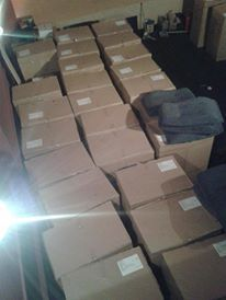 The boxes which the seats arrived in! Much bigger than you think...