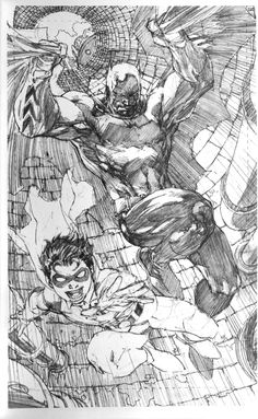 Jim Lee Supergirl | 18-20 Left to Right: Commissioner Gordon (Batman, I think), Black ...