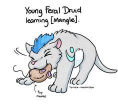 Image result for low level feral druid meme
