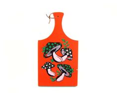 Retro Mushroom Platter Cutting Board Cheese by stonesoupology, $34.00