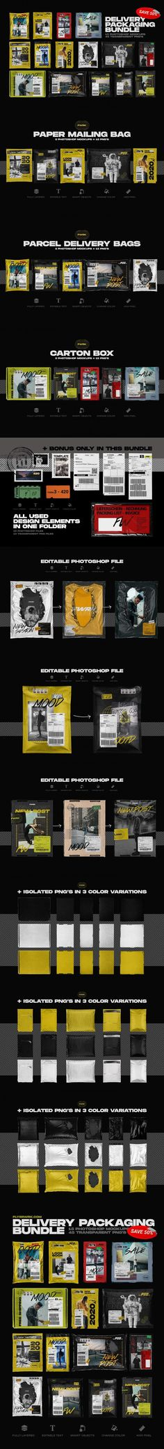 Delivery Packaging Mockup Bundle #trucks #business #background #stickers #smartphone #bloggertemplates #templates #package #authentic #vibes #MockupTemplate #photoshop #customizable #box #online #airplane #flatlay #MockupTemplate #mockupkit Mockup Templates, Delivery Bag, Polaroid Frame, Bag Mockup, Photoshop, Packaging, Blogger Templates, Life Photography, Airplane